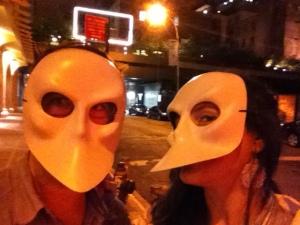 A la sortie de Sleep No more, dans les rues de Manhattan.